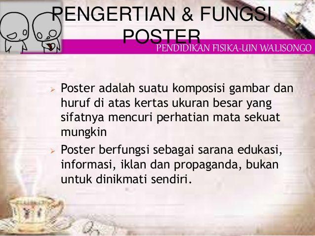 poster biasanya dibuat dengan warna 3