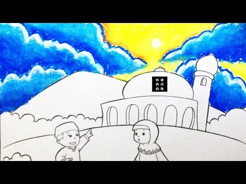 teknik mewarnai awan siang dengan crayon untuk lomba tk sd 1 youtube