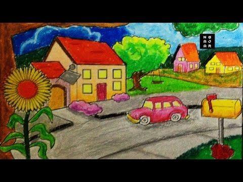 cara mewarnai sekolah dan rumah dengan crayon bagus tk sd ngajar warna