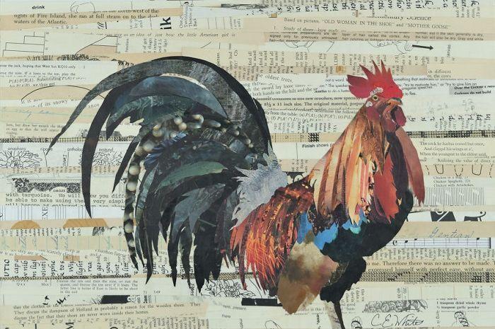 bukan lukisan cat minyak ini cuma mozaik yang terbuat dari kertas bekas aja loh