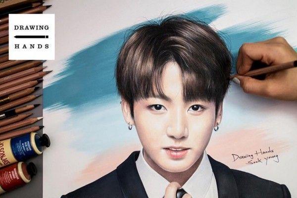 Lukisan Pensil 3d Di Kertas Bermanfaat Seniman Korea Ini Lukis Idol Kpop Pakai Pensil Warna Hasilnya Keren