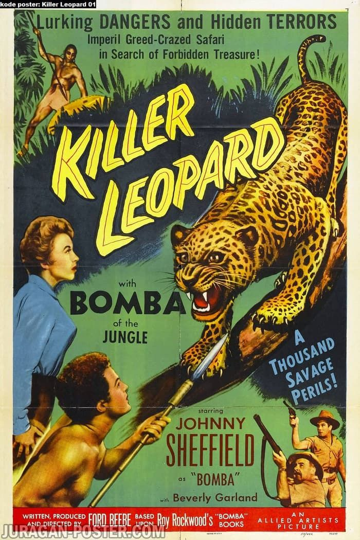 poster film klasik vintage killer leopard 01 60x90cm bahan pet