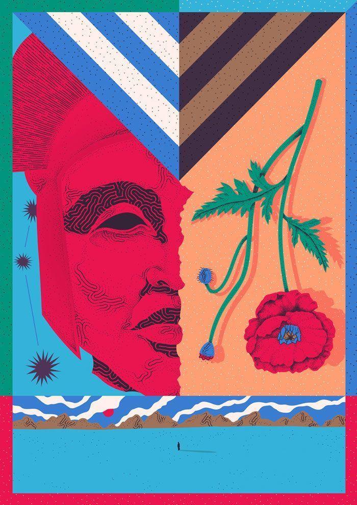 alessandro cripsta a3 size poster ideas mural art memphis love art