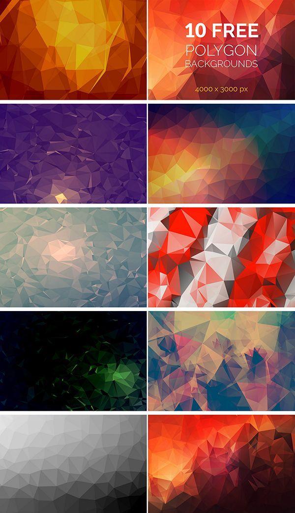10 free polygon backgrounds kartu nama poster background design 3d background banner background