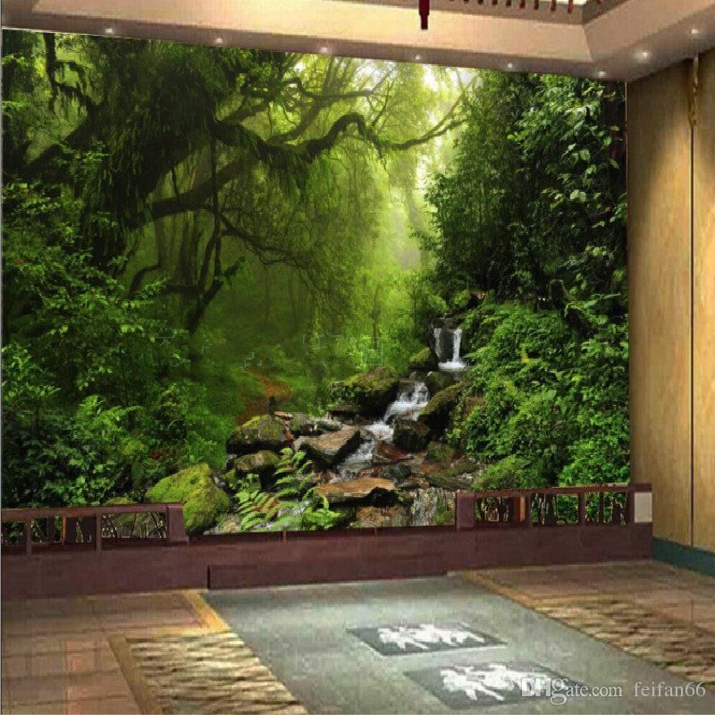 photo 3d wallpaper custom natural sunlight green eye forest landscape wallpaper for wall 3d bedroom for living room background high resolution wallpaper