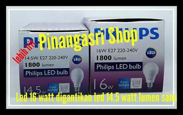 lampu led philips 14 watt 14w philip putih 14 5 w bulb pengganti 16 18