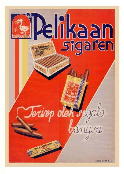 jual poster iklan vintage retro rokok pelikaan sigaren di lapak l dan l toserba danielsupriyono