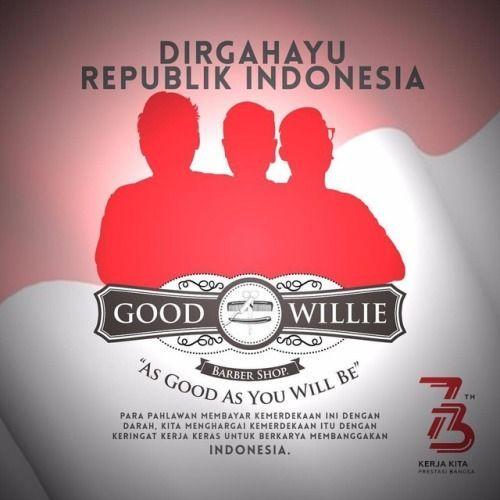 poster kemerdekaan indonesia bernilai good willie barber shop