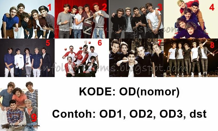 poster one direction kode od