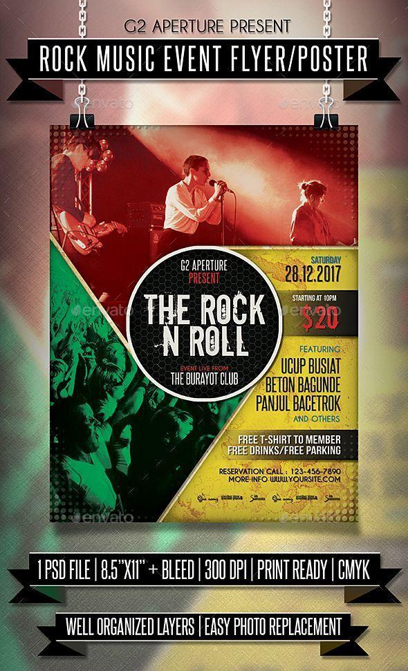 rock music event flyer poster shop psd concert poster concert flyer maker