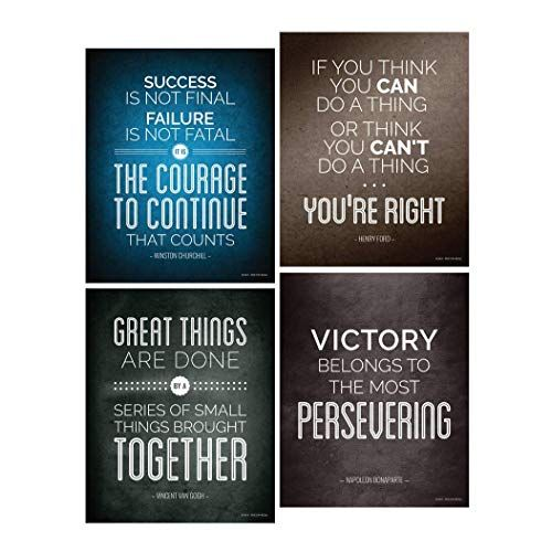 historical quote motivational posters success wall art inspired by famous leaders and thinkers 8x10