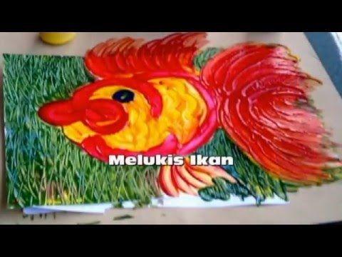 poster mewarna ikan baik finger painting untuk paud gambar ikan youtube