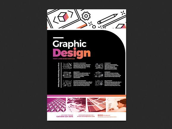 a4 graphic design service poster template 4 jpg