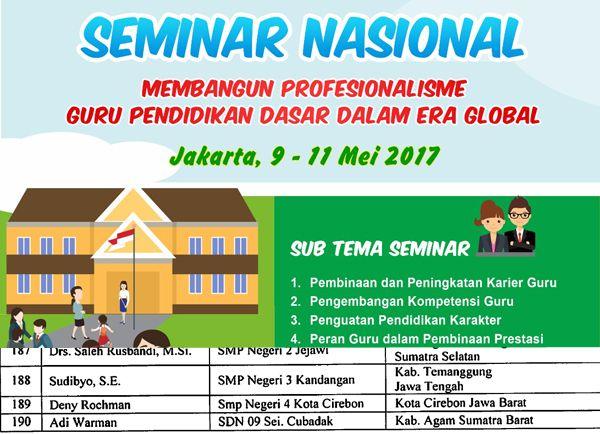 sebanyak 260 guru dinyatakan lolos untuk mengikuti seminar nasional ini seminar bukan sembarang seminar nasional yang biasa dijumpai diberbagai tempat