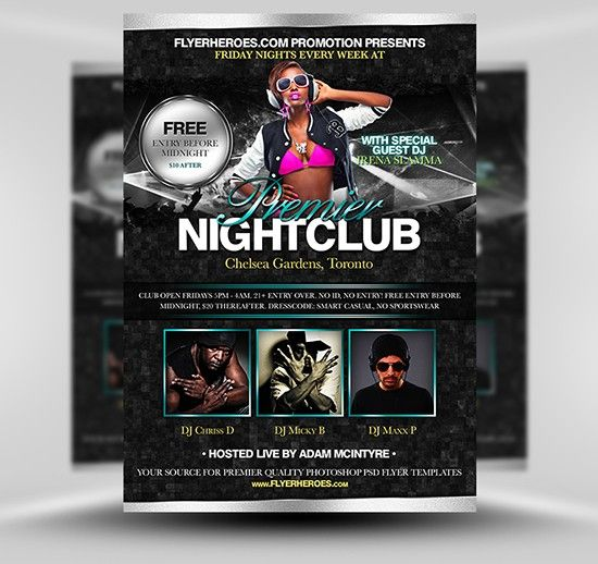 nightclub flyer nightclub flyer wallpaper unique poster templates 0d wallpapers 46