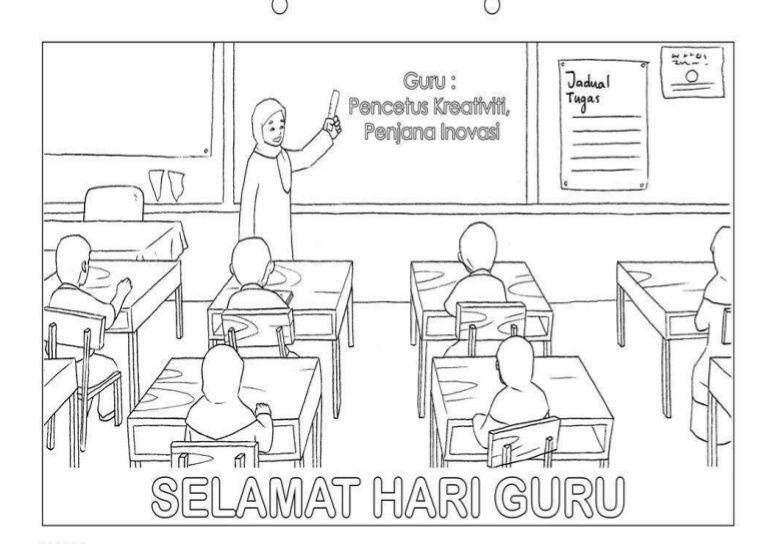 gambar mewarna selamat hari guru penting poster hari guru 2018 brad erva doce info