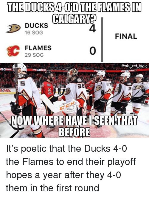 irs logic and memes the ducks4 0d theflamesin ducks 16 sog 4