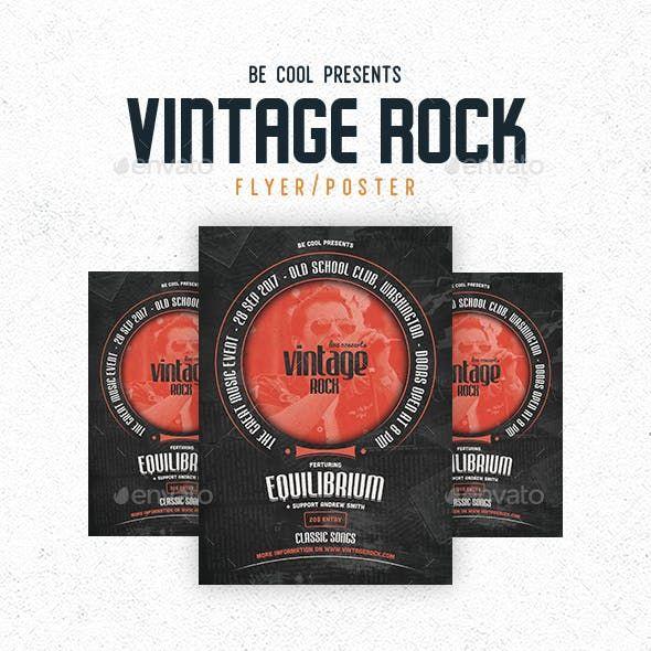 vintage rock flyer poster