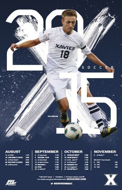 xavier msoc soccer schedule soccer photography soccer poster baseball posters sports posters