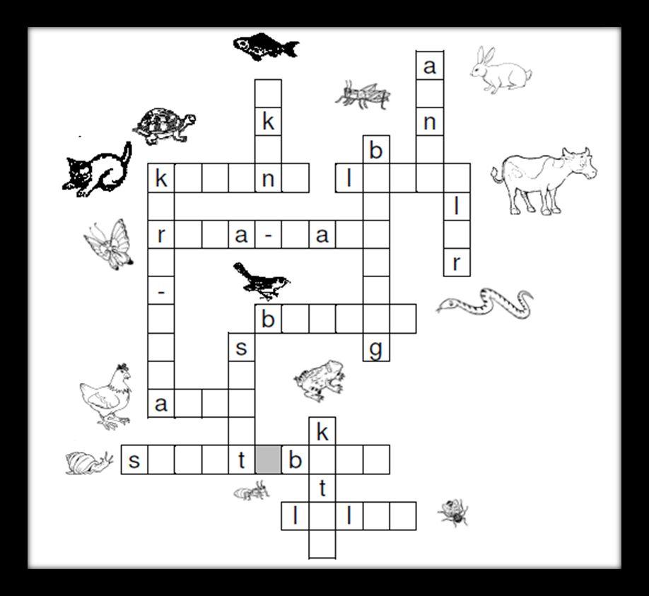 teka silang kata binatang
