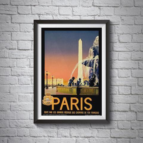 set of 2 vintage travel frames